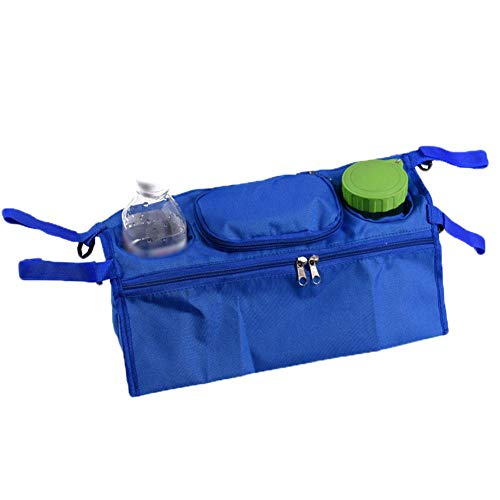 Hoist Multi-Baby Stroller Organizer Storage Bag,Waterproof Pram Buggy Organizer Bag Pram Pushchair Cup Holder Buggy Bottle Drink Food Hanging Storage Pouch with Cup Holder & Pocket for Pram Pushchair