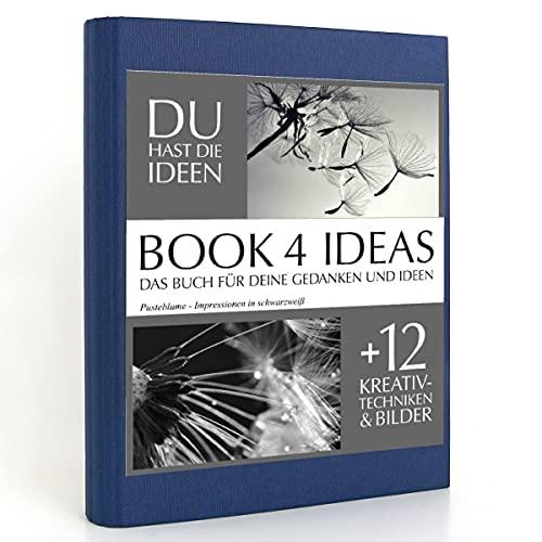 BOOK 4 IDEAS classic   Pusteblume - Impressionen in schwarzweiß, Eintragbuch mit Bildern