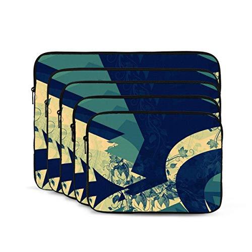 QUEMIN Funda para portátil con Estampado geométrico Fresco, maletín Resistente a Golpes, Estuche para Tableta para MacBook Pro/MacBook Air/ASUS/DELL/Lenovo/HP/Samsung de 12 Pulgadas