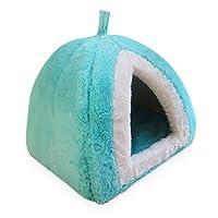 ペットハウス ペットベッド 犬 猫用 小型 ペットマット ドーム型 M イチゴ クッション付き オールシーズン ふかふか 型崩れにくい 通年利用 カラー リラックス休憩 ねこ用 暖かい安眠 室内用 ペット用寝袋 寝具 キャットハウス