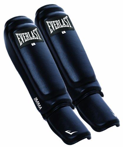 Everlast Erwachsene Schienbeinschützer MMA Shin Instep Guard, Black, L/XL