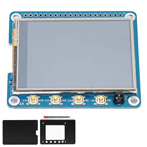 Yctze Für Raspberry TFT LCD-Display, 2,4-Zoll-PPT-resistiver Touchscreen mit Stift, Touchscreen-Monitor, Unterstützung für 4B 1G / 2G / 4G(2.4 inch Screen + Shell)