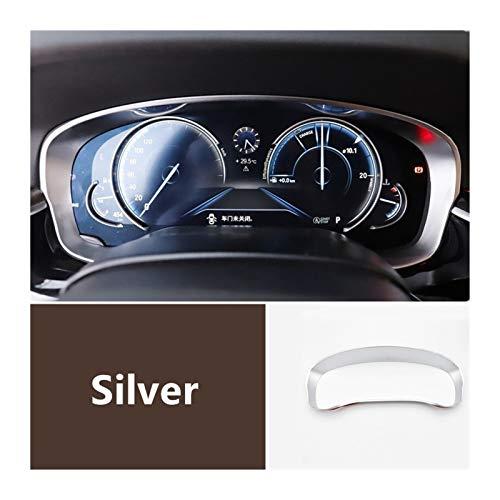 FangFang Tablero de Coches Dashboard Radiador Odómetro Decoración Frame Fotograma Pegatina de Ajuste Ajuste para BMW 5 Series G30 G38 2018 Accesorios Interiores (Color Name : Silver)