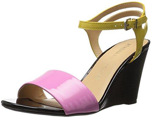 Athena Alexander Women's Sergia Wedge Sandal, Pink/Yellow, 6 M US