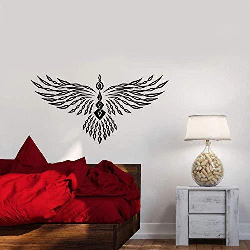 Calcomanías De Pared Abstracto Geométrico Phoenix Alas De Pájaro Vinilo Ventana Pegatinas De Vidrio Dormitorio Sala De Estar Decoración Del Hogar Arte Mural 57X30 Cm
