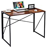 Writing Computer Desk Modern Simple Study Desk Industrial Style Folding Laptop Table for Home Office Notebook Desk Vintage