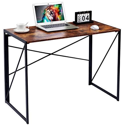 Scrivania moderna e semplice, stile industriale, pieghevole per computer portatile, per casa, ufficio, scrivania, stile vintage