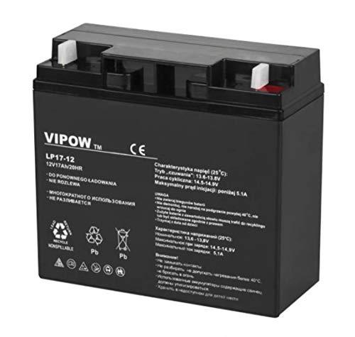 Vipow LP20-17 Blei Akku 12V 17Ah, Batterie 181 x 77 x 167 mm, wartungsfrei luftdicht Bleiakku Gelakku Gel akku