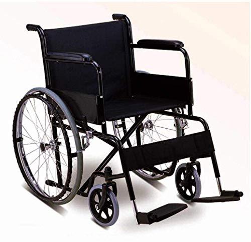 LUO Rollstühle, leichte zusammenklappbare ältere Rollstuhlfahrer Medizin, ältere Rollstühle ältere Rollstuhl tragbare/ältere/behinderte ältere Rollstuhl, schwarz, A.