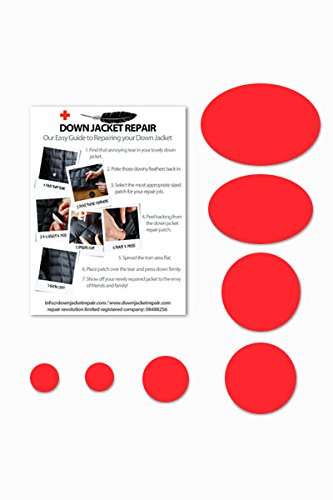 Doudoune Patch de réparation kit (Autocollant) Rouge