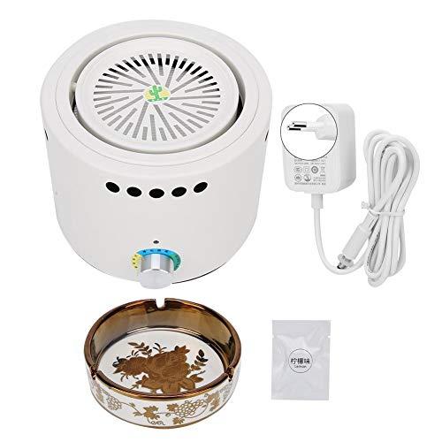 Qiilu luchtreiniger Negatieve ionensterilisatie Geurverwijdering Home Luchtfilter Luchtreiniger Cleaner 100-240V(EU Plug 100-240V-wit)