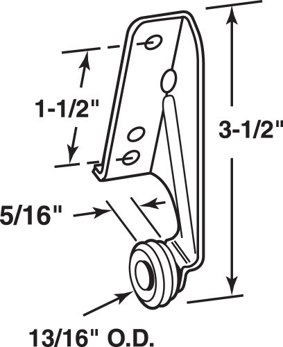 Prime-Line Products R 7141 Drawer Track Center Roller, 13/16-Inch, Left Hand,(Pack of 2)