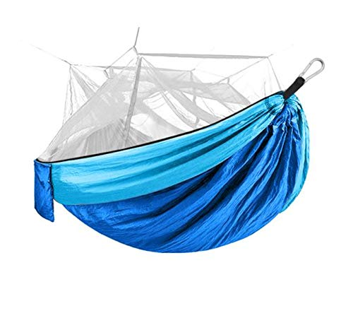 Onward NEW Camping Hammock with Mosquito Net - Outdoor Travel Hammock for Camping Hiking Backpacking (Blue)
