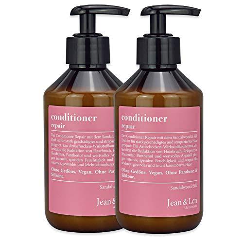 Jean & Len Conditioner Repair Sandalwood & Silk, für stark geschädigtes und strapaziertes Haar, 300 ml, 1 Stück, 2er Pack, 2903100205