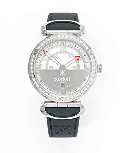 Korloff VQ2/269 - Orologio analogico al quarzo da uomo Diamond Highway...