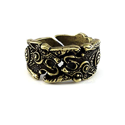 URBANTIMBER Ring Fenris Wolf - Silber oder Bronze/Gold