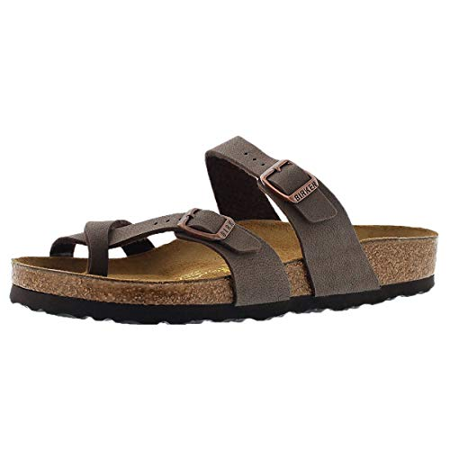 Birkenstock Women's Mayari Adjustable Toe Loop Cork Footbed Sandal Mocha 38 Medium EU