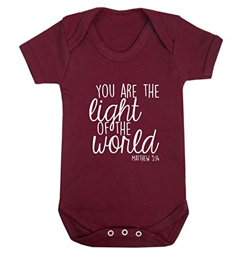 Flox Creative Baby Vest You are The Light of The World - Rouge - XS