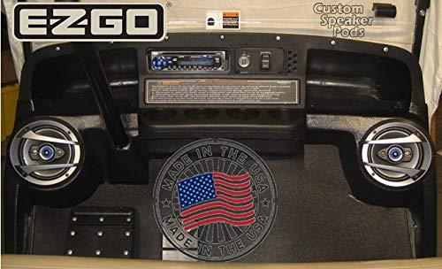 E-Z-Go Medalist, TXT Golf Cart 6-1/2' Speaker Pods (3-Bolt Steering Column) Made in The USA
