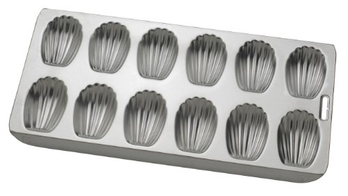 Mrs. Anderson's Baking 12-Cup Madeleine Pan, 15.75-Inches x 8-Inches, Non-Stick Tinned Steel