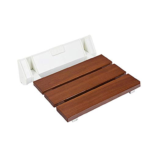 KXBMDO Duschsitze für die Wandmontage Klappstuhl aus massivem Holz für Badezimmer Relaxsessel Dusche Hocker Toilette Badbank, Y538
