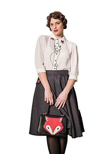 Dancing Days Camisa Banned Foxy Zorro Retro Vintage Rockabilly 1950 - Blanco (S)
