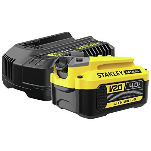 STANLEY Fatmax SFMCB14M1 QW Paquete de 1 batería V20 li-ion 18V 4AH y cargador V20 li-ion 18V 2A