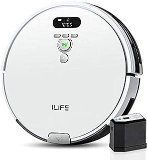 ILIFE アイライフ V8e ロボット掃除機 強力吸引 750ml大容量ダストボックス ブラシレス吸引口 エレクトロウォール付き 静音 自動充電 (ホワイト)
