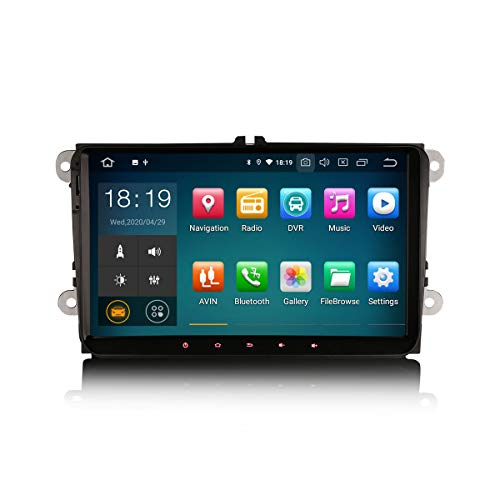 ERISIN 9 pollici Android 10.0 Autoradio per VW Passat Golf Jetta Caddy Tiguan Multimedia Supporto audio GPS Sat Nav Carplay Android Auto Bluetooth A2DP Wifi 4G DAB + RDS Mirror Link TPMS