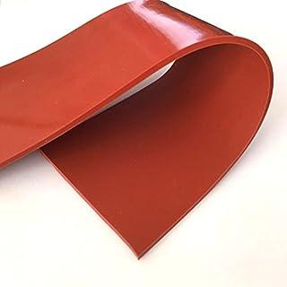 Lámina de goma de silicona de alta temperatura rojo 60A