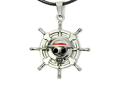 CoolChange One P. Halskette mit Jolly Roger Anhänger der Strohhut Piratenbande