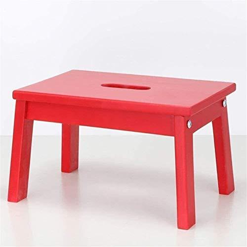 LLC- SUDA Dusch- und Badestuhl, Duschstühle für Senioren, tragbarer niedriger Hocker mit Handloch aufsteigend(Farbe Rot),Perfekt fürs Badezimmer (Color : Red)
