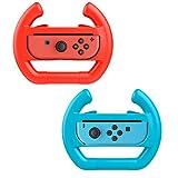 MoKo Nintendo Switch Volante - (2 Paquetes) Juegos de Carreras Manipulate Grip para Nintendo Switch Joy-con Controlador? Azul&Rojo