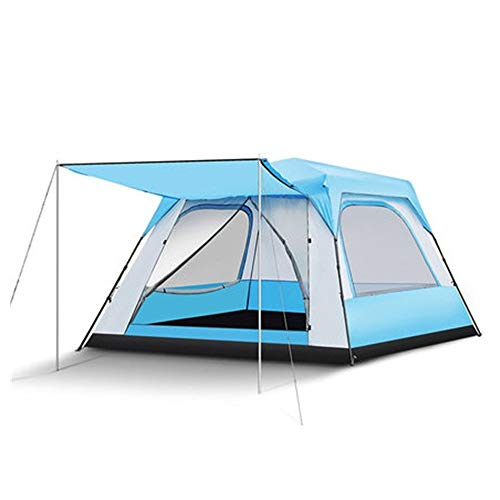 YAOHONG Outdoor Tent, Outdoor Camping Tents Thick, Ultra-lightweight Automatic Tent Camping Equipment, Anti-rain Storm Beach Travel tent (Color : A)