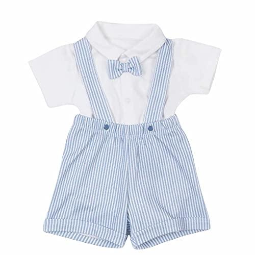 Sevira Kids - Conjunto de ropa de bebé y pantalón corto con tirantes de algodón orgánico