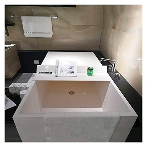 LIQICAI Plegable Bañera Cubierta, Bandeja De Baño con Persiana Plegable De Plástico para Gimnasio Hotel Villa Club, Espesor 1,22 Cm, 18 Tamaño (Color : White, Size : 105cmX75cmX1.22cm)