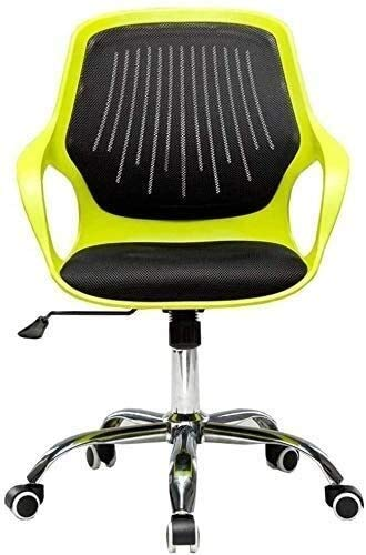 Silla Silla de Oficina Transpirable del Respaldo del sillón Principal Asiento tapizado compartida Silla Estudio de Nylon Totalmente Compatible de sedentario - Diseño ergonómico (Color : Green)
