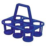Portabotellas/soporte para 6 botellas, de plástico, varios colores (1 pcs)