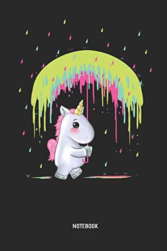 Einhorn | Notizbuch: Einhorn mit Regenbogen Regenschirm . Liniertes Notizbuch & Schreibheft für Frauen, Mädchen und alle die Einhörner lieben. Tolle Geschenk Idee für alle Einhorn Freunde.