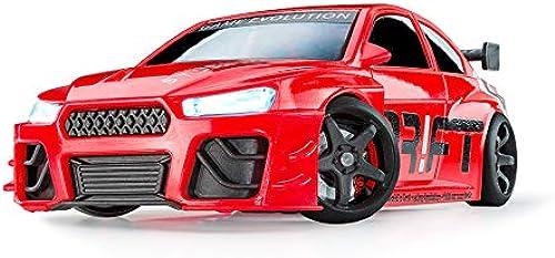 DR FT Racer rot Turbo Sport ferngesteuertes Drift Auto, Rc Car mit realistischer Fahrdynamik zur Steuerung mit iPhone oder Android, reales Fahrverhalten simuliert via App