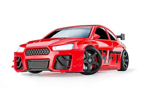 DR!FT Racer Red Turbo Sport ferngesteuertes Drift Auto, Rc Car mit realistischer Fahrdynamik zur Steuerung mit iPhone oder Android, reales Fahrverhalten simuliert via App