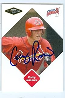 Colby Rasmus autographed baseball card (St Louis Cardinals FT) 2005 Just Minors #68
