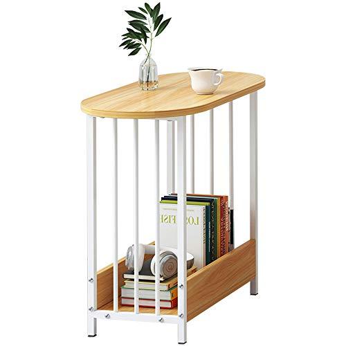 HAIZHEN Tables basses Table d'appoint, petite table basse à 2 niveaux, table à thé en bois massif 60 × 52 × 29 cm