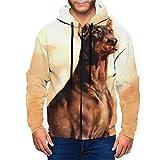 Doberman Pinscher Dog Vintage Retro Men Hoodies Zipper Jacket Coat Hooded Sweatshirts Sweater T Shirt Tshirt