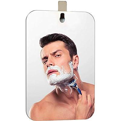 XoYo-Large Fogless Shower Mirror, 1 Adhesive Hooks Used, Anti-Fog Shower Mirror, Shower Makeup Shave Mirror, Frameless Shower Mirror, Wall Hanging Mirror (Large) by XoYo