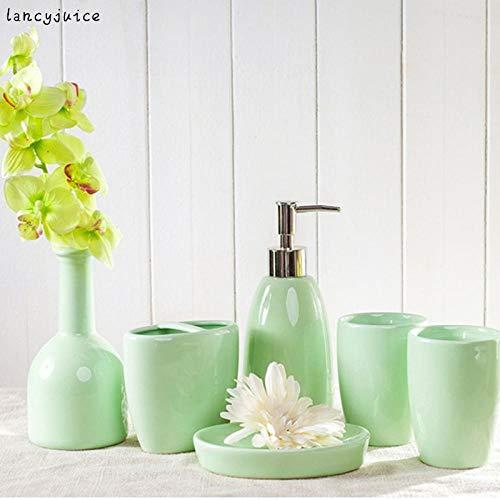 CZOOR Keramische Europese badkamerset 4 kleuren 5 delen/los keramiek mode korte badkamer set levert kit dental shukobij wasset