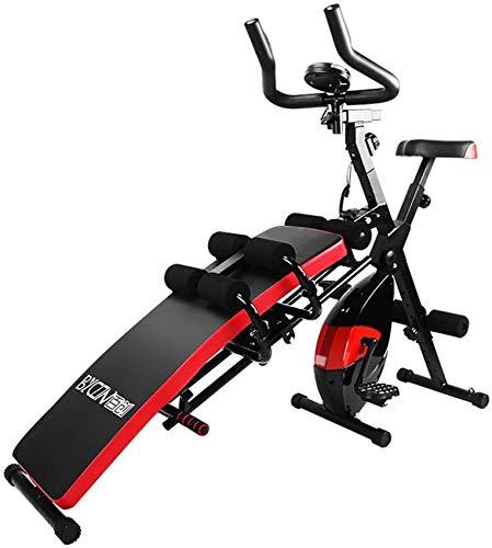 LJYY Bicicleta estática Silla de Ejercicios Banco con Mancuernas 7 en 1 Máquina de Ejercicios combinada Asiento Ajustable para Sentarse, Bicicleta estática para Gimnasio en casa RunningMachine112