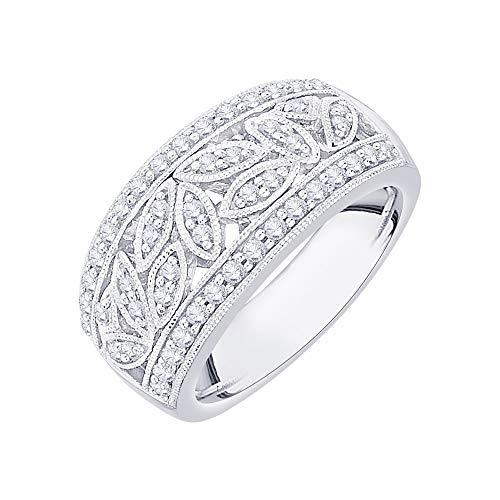 KATARINA Diamond Fashion Ring in 14K White Gold (1/2 cttw, I-J, I1-I2) (Size-7.5)
