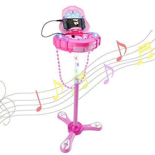Wishtime Juguetes Musicales para niños Karaoke Micrófono Infantil Karaoke Conjunto de 2 Micrófonos con Bolsa de Hombro