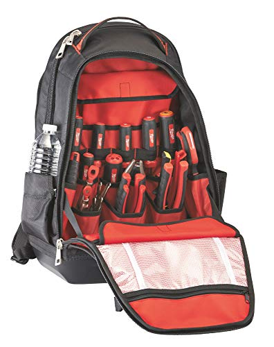 Milwaukee 48228200 35 Pocket Jobsite Backpack - Red/Black